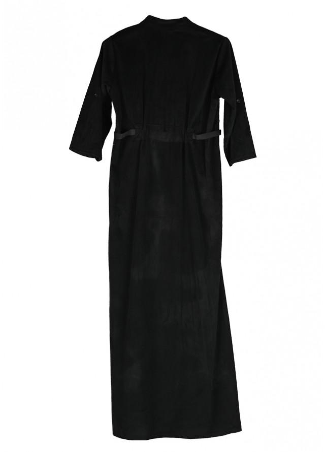 فستان مخمل اسود