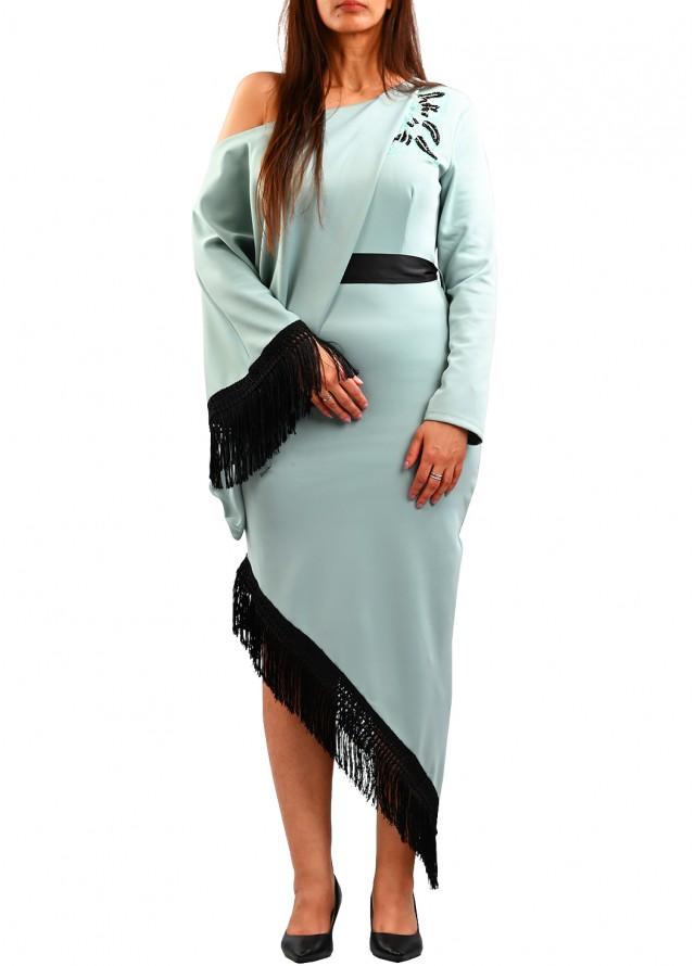 فستان سواريه بهدب