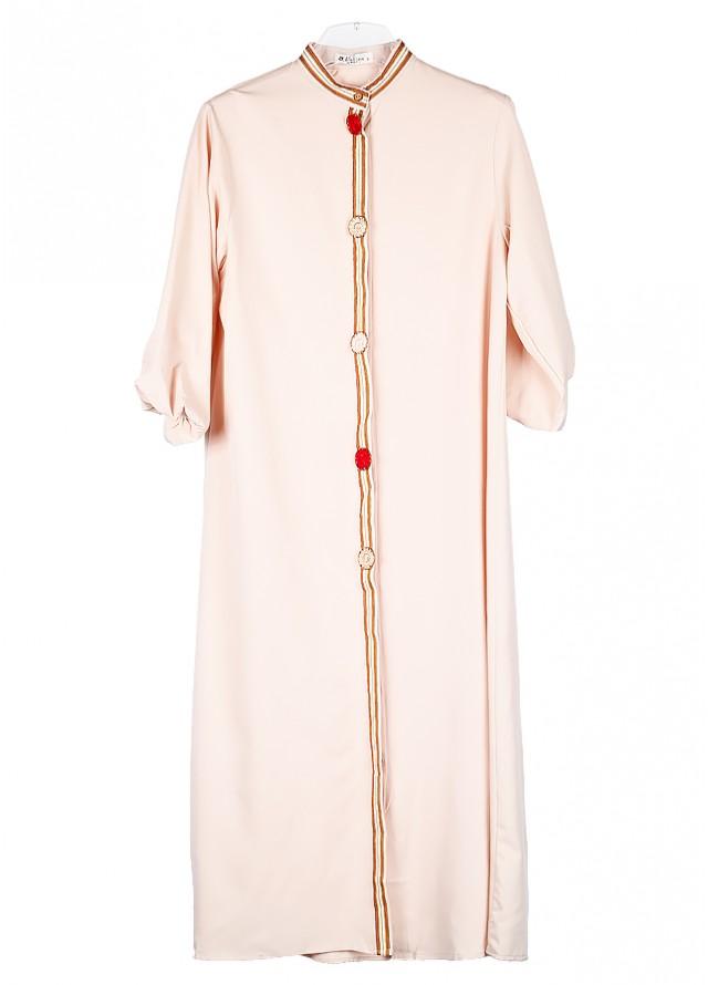 فستان مغربي بيج