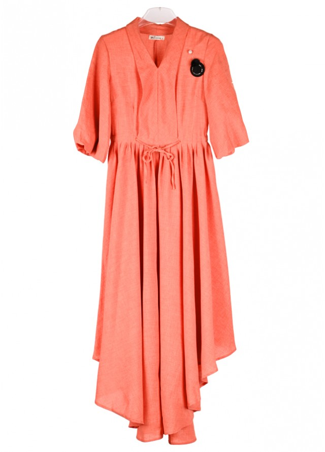 فستان شيفون برتقالي