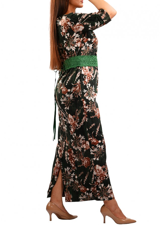 فستان سترتش مشجر