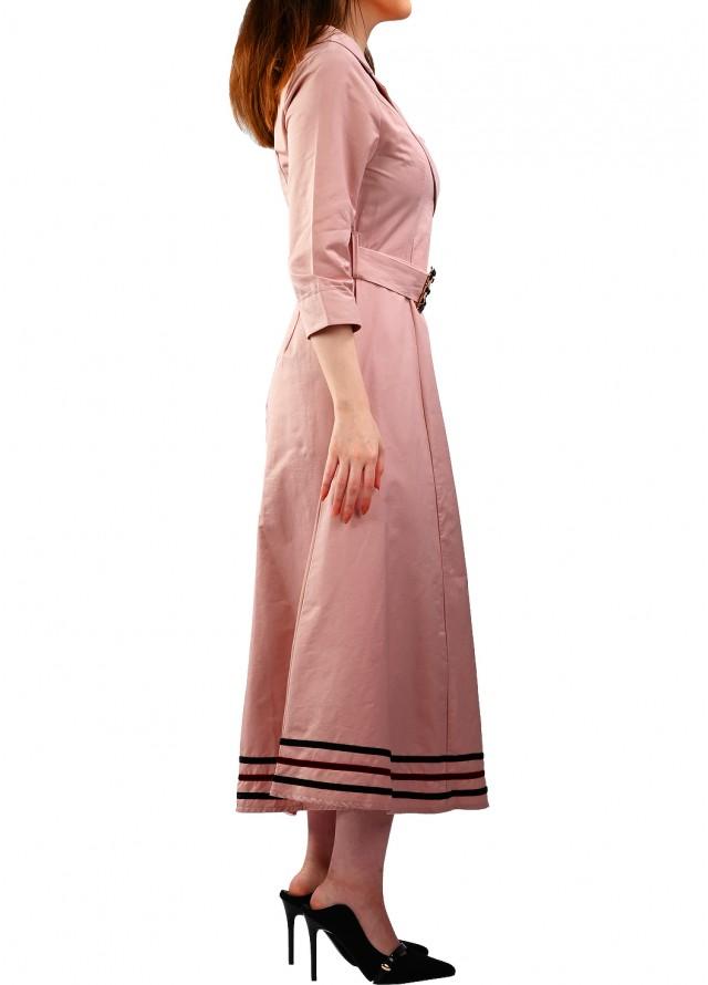 فستان ميدي لف على الجنب بلون زهري