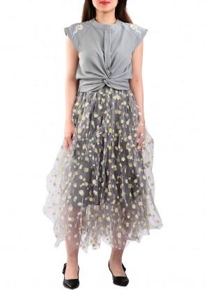 فستان سهرة شيفون أورقنزا