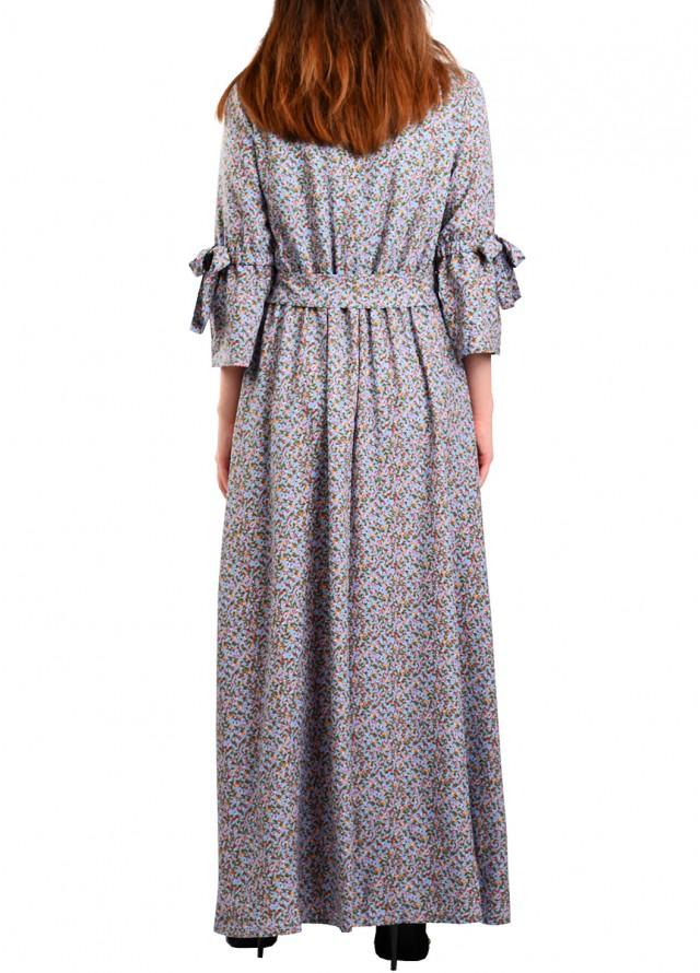 فستان كسرات بلون رمادي