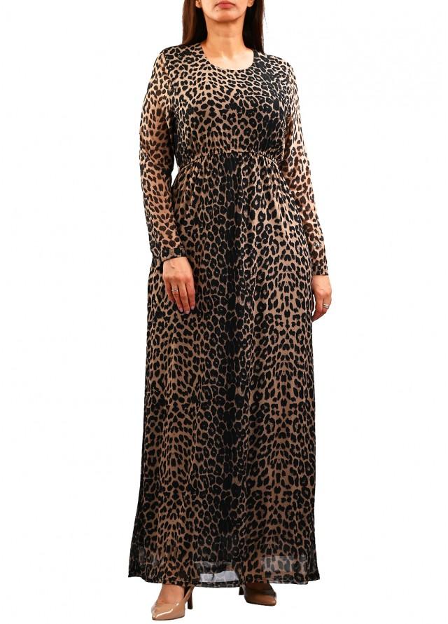 فستان نمري ماكسي بلون بني