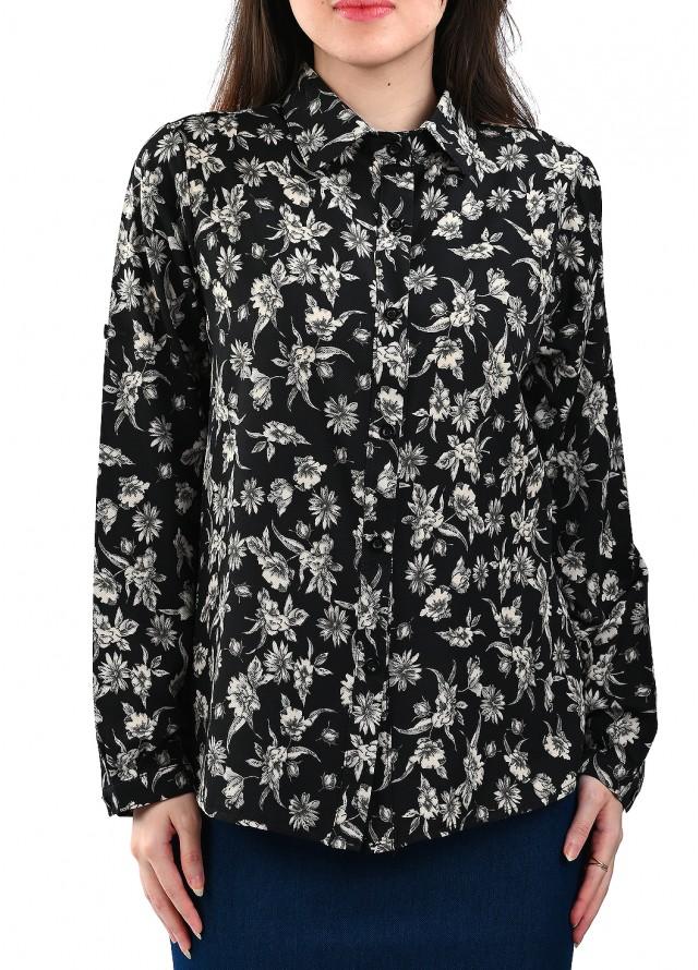 قميص رسمي مشجر بلون أسود