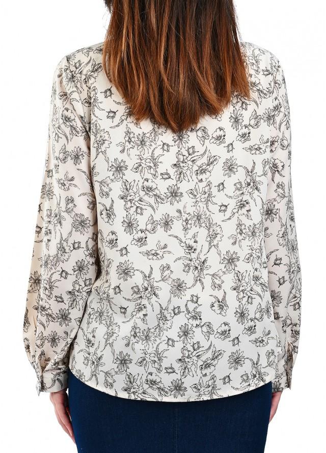 قميص رسمي مشجر بلون أبيض