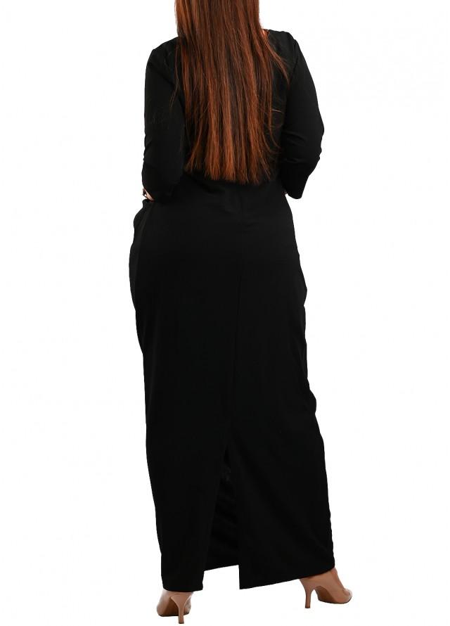 فستان سهره بف اسود طويل