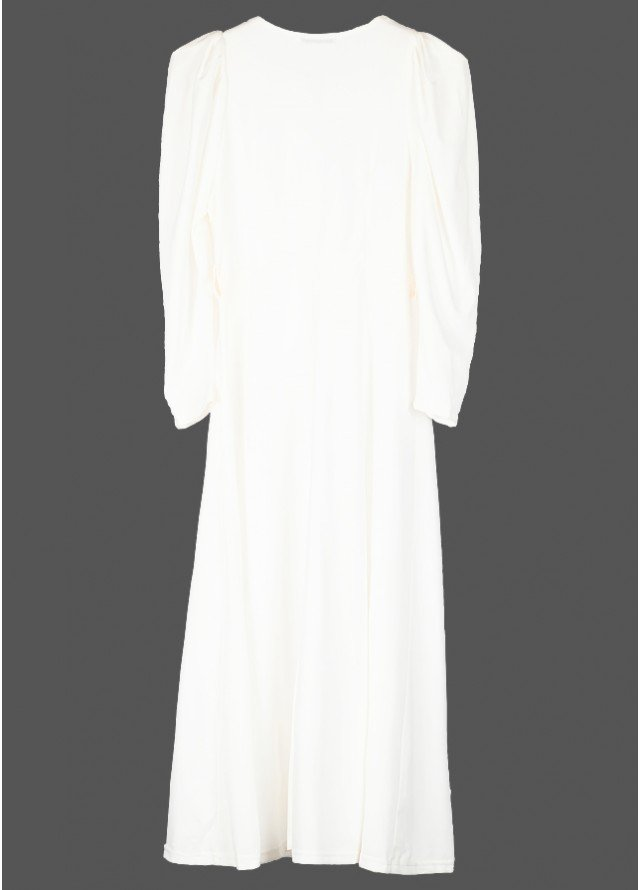 فستان ميدي ابيض ناعم