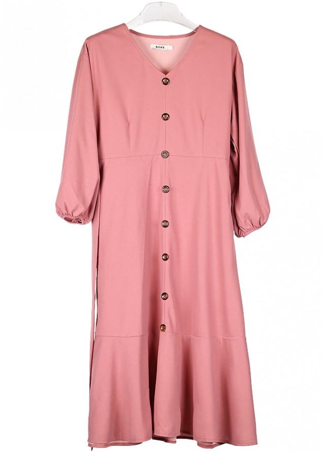 فستان ميدي ساده مؤف