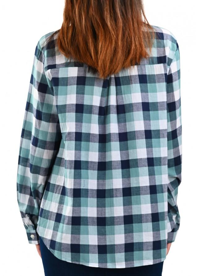 قميص كاروهات بيسك بلون اخضر