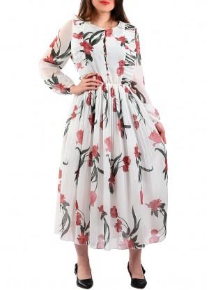 فستان جورجيت برسمة ربيعية