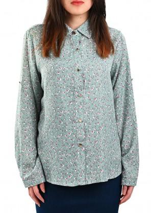 قميص حرير بألوان باستيل مشرقة بلون ازرق