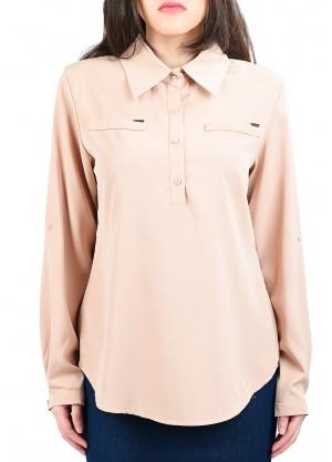 قميص رسمي رسمة جيوب امامية بلون زهري